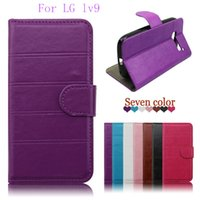 Wholesale Lg Mach - Wallet case For LG lv9 lv5 x fast k600 mach For Samsung galaxy C9 PRO ON8 pu Leather cover credit card slots