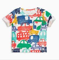 Wholesale boys car shirts online - BST15 NEW ARRIVAL Little Maven Boys Kids Cotton Short Sleeve Multi Cars print T shirt Boys causal summer t shirt