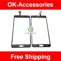 china clone toptan satış-Toptan Satış - Çin Not 4 SmartPhone Not 4 5.7 inç 4 Clone 6011-v1.0 Dokunmatik Ekran Digitizer Beyaz Renk 1 Adet / grup Ücretsiz Kargo