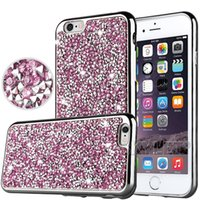 Wholesale Plastic Bags For Jewelry - For iPhone 7 Galaxy ON5 jewelry Case Diamond TPU Case For Iphone 6 Cases S7 Crystal Luxury Glitter Bling Flash Power Soft Case Opp Bag