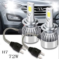 Wholesale Audi A6 Instrument - H4 H7 H11 H1 H13 H3 9004 9005 9006 9007 9012 COB LED Car Headlight Bulb Hi-Lo Beam 72W 8000LM 6500K Car Fog Lights1 2v 24v Car Fog Lights