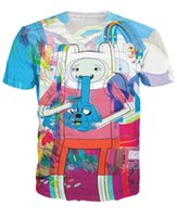 Wholesale Adventure Time Finn Jake - Trip Time T-Shirt Jake and Finn the Adventure Time psychedelic tee Unisex Women Men Summer Style t shirt tops tee Pullover