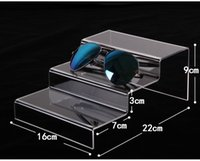Wholesale Cellphone Glasses - Clear Acrylic 3 layers sun glasses display wallet show rack cellphone holder jewelry display