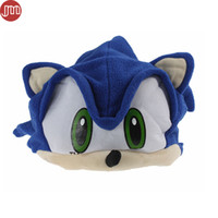 Wholesale Adult Figure Anime - New Sonic The Hedgehog Fleece Plush Hat Cosplay Costumes Blue Cap Brinquedos for Adult Teenager Anime Birthday Gift In Stock