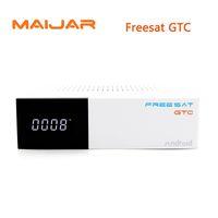 Wholesale Dvb C Box - Freesat GTC Satellite Receiver DVB-S2 DVB-C DVB-T2 ISDB-T 2GB RAM 16GB ROM Wifi 2.4G+BT4.0 Amlogic S905D Top set box android 6.0