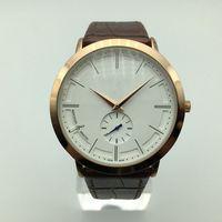 mode-displays großhandel-Qualitäts-Luxusmänner AAA-Markenarmbanduhr elegante Art und Weise Doppelzeitanzeige-Ledergürtel-Quarzuhr heiße Verkaufsgeschenke männliche Uhren relogios