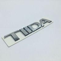 ingrosso tiida emblema-3D Car Emblem per Nissan Tiida Lettera Logo Argento Auto posteriore Trunk Badge Nome Plate Sticker