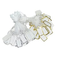 Argositment 1000 Pcs Tie-on Jeweley Display Pequeno Scalloped Preços Tags Silver e Gold Label White String