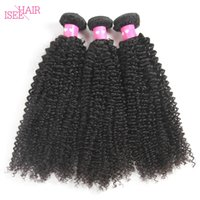 Wholesale Cheap Brazilian Online - Isee Hair Brazilian Virgin Hair Curly Weave Brazilian Peruvian Malaysian Indian Kinky Curly Weaving Cheap Online Human Hair Extensions Weft