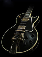Wholesale best semi hollow electric guitar for sale - Group buy Best China Guitar Custom Shop Custom VOS Black ES Hollow Jazz Electric Guitar Bigs Bridge Gold Hardware Black Speed Knobs
