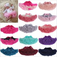 Wholesale Tutu Skirt Age - 20 Colors fluffy Pettiskirt baby tutu skirt Newborn Photo Props Pettiskirt Girls Petticoat suitable for 3- 24M age