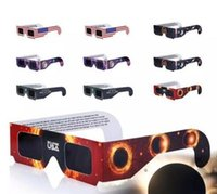 Wholesale Wholesales Scopes - Fashion Solar Eclipse Glasses Paper Solar Viewing Eyeglasses Protect Your Eyes Safe when 21th August DHL Free