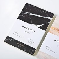 Wholesale Exercise Books - Wholesale- cute white black marble vintage travels notebooks and journals a5 with lines Exercise book school supplies writing pad planner