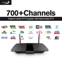 Boîte IPTV arabe Smart Box TV Android Leadtv avec 700 canaux IPTV abonnement Europe H.265 Canal Plus STB IPTV Set Top Box