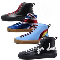 Wholesale Womens Tiger Tops - Famous brand designer men womens Tide Animal high top shoes genuine leather 3D embroidery Tiger Lace-up sneakers Plus size 46
