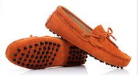 натуральная замшевая кожа оптовых-Мужская Летняя Натуральная Кожа Замши Дышащий Мокасины Обувь Для Вождения Мокасины Бездельник Обувь 10 Цветов