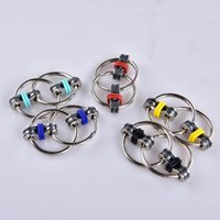 Wholesale Professional Science - 2017 Fidget Spinner Key ring metal gyro toy fidget spinner toy Professional EDC stress release toy VS Hand Spinner fidget chain OTH464