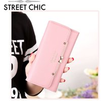 Wholesale Hryhy1022 new bow tie seventy percent off lady purse Korean fashion trend long wallet female Wallet