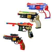 Wholesale Toy Assault Guns - children's electric toy gun Colorful childrens electronic toy pistol music toy gun assault infantry guns Music pistol