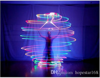 Wholesale Dance Throw - LED Hand Props Women Led POI Thrown Balls for Accessories Hand Belly Dance Props Aoto Color