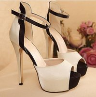 Wholesale Sexy Platform Wedding Sandals - Women Girl Sandal Dress Shoes 2017 Sexy Nude Pumps Ruched Peep Toe Platform High Heel Prom Evening Shoes Wedding Shoes