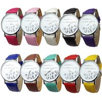 Wholesale Late Glass - New Fashion Casual Quartz Watches Women Student Whatever I am Late Anyway Letters Cartoon Gilr Watch PU Leather Women Wristwatch Clock Hours