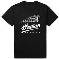 Wholesale Motorcycle Short Sleeve - Indian Motorcycle T shirt Rider short sleeve Fashion flag tees Player game clothing Unisex cotton Tshirt