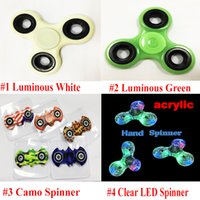 Wholesale Glow Dark Rainbow - 2017 New Hot Plastic Spinner Torqbar EDC HandSpinner Luminous Rainbow Fidget Cube Glow In The Dark