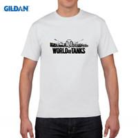 Wholesale Men Lycra Tank - WORLD OF TANKS BLACK LOGO WOT T-shirt Top Lycra Cotton Men T shirt New Design High Quality Digital Inkjet Printing