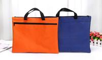 bez için zip toptan satış-Bez zanaat zip ile kilit klasör bilgisayar ofis belge dosya çantası iş kullanımı için taşıyıcı kolu