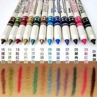 ingrosso le ombre di occhio delle signore-All'ingrosso- 12 colori New Lady Cosmetic Glitter Eye Shadow Lip Liner Eyeliner Set penna trucco