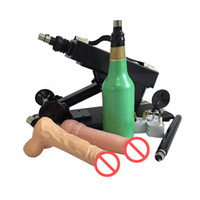 Wholesale Male Masturbator Gun - Automatic Masturbator Sex Machine Gun Come with Male Masturbation Cup and Realistic Dildo Powerful Sex Machines Sex Toys