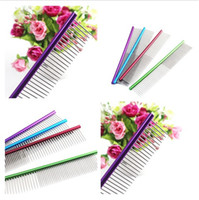 Wholesale purple pet supplies for sale - Group buy 4 Color Dog Pet Comb Multi Colored Dog Grooming Comb For Shaggy Pet Pet Supplies Comb IA594