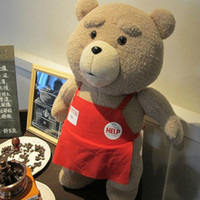 Wholesale Ted Movie Apron - 100% Original Ted Movie Teddy Bear 48CM Plush Toys In Apron Soft Stuffed Animals Plush For Kids