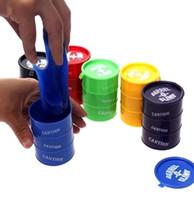 Wholesale Prank Joke Trick - Barrel oil Slime Trick paint Spilled Paint Pot Fun Shocker Joke Gag Prank toy Oil slick Bucket Slime Play Joke Toys KKA1936