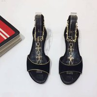 Wholesale Summer High Top Sandals - Fashion Summer Luxury Brand Lady Flat heel casual sandals with top qaulity genuine leather modern all-match sweet hot sales scuffs high-end
