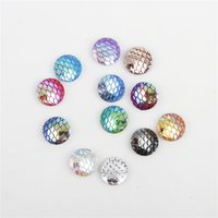 Wholesale Rhinestone Gems Flat Back - Round resin beads flat back rhinestone Veined loose 12mm gem beads colored for handwork
