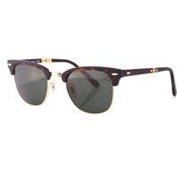 Wholesale Sports Sunglasses Folding - Hot Sale High Quality Brand Retro Glasses Men's Women's 2176 AAA Eyewear Black   Green Lens Fold Sunglasses 51mm