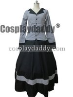 bürgerkrieg kleid xxl großhandel-Bürgerkrieg viktorianischen Tartan Ballkleid Lolita Kleid Prom Cosplay Kostüm