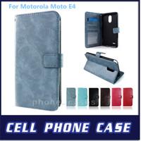 Wholesale Boost Cards Wholesale - For Motorola Moto E4 Metropcs Boost Wallet Crystal Crazy Horse Grain Photo Frame Card Slot Case For Motorola Moto E4 Plus