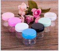кремовые банки оптовых-20 г пластиковый косметический контейнер красочные пластиковые крем банку макияж образец банки косметическая упаковка бутылки на складе