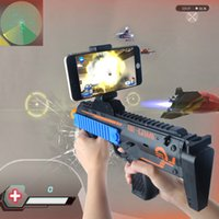 Wholesale Stand For Gun - VR AR Game Gun Cell Phone Stand Holder Portable Wood AR Toy Game Gun with 3D AR Games for iPhone Android Smart Phone