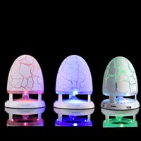 Wholesale Speakers Flash Colors - Crack Wireless Portable Bluetooth Speakers Party Home Atmosphere 7 Colors Lantern Flash Hifi Sound High Quality 3D Bluetooth Speaker