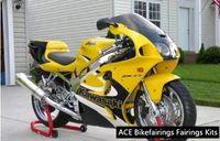 zx7r abs verkleidung großhandel-Drei freie schöne Geschenk neue hochwertige ABS Verkleidungsplatten für Kawasaki Ninja ZX-7R 1996-2003 ZX7R Sehr schönes schönes Gelb