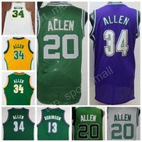 Wholesale Green Ray - Wholesale 20 Ray Allen Throwback Jerseys 2017 Men Basketball Lincoln 34 Jesus Shuttlesworth Jersey Movie Big State He Got Game Green White
