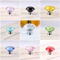 Wholesale chrome drawer knobs for sale - Group buy Transparent mm Pull Handle Diamond Crystal Doorknob Glass Cabinet Knob Drawer Polished Chrome Door Handles For Wardrobe Color C76L