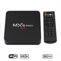 Wholesale Mx2 Box - Hot MX2 MXQ PRO Quad Core Android TV BOX With Customized KD 17.3 TV Box Fully Loaded 4K Media Player