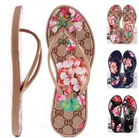 Wholesale flower embossed - New Women Sandals Summer Fashion Flip Flops Women's Brand Shoes Flowers and Comfortable Outdoor Flat Sandal Beach Slippers