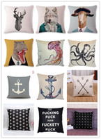 Wholesale Superhero Cases - Watercolor Cute Superhero Cushion Cover Home Decorative Pillowcase Cushion Case Cotton Linen Car Europe Style Pillow Covers Decorative