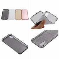Wholesale Circle Silicone Iphone - Shockproof Soft TPU Case For Iphone X Silicone Fashion Diamond Cases For IphoneX 5.8'' Clear Bubble Checkered Circle Gel Skin Cover